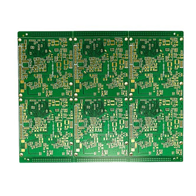Immersion gold impedance half hole 6-layer circuit board
